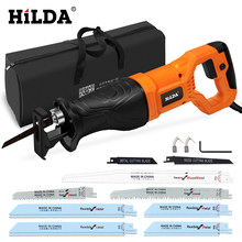 HILDA Electric Saw Reciprocating Saw for Wood Metal Plasitic Pipe Cutting Power Saw Tool with Saw Blades(China)