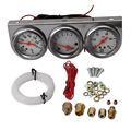 1PC 12B(V) Car Gauge Sets Dash Panels Universal Oil Pressure Water Voltage Volt Triple Gauge Chrome Panel 2""