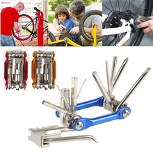 11 In 1 Multifunctional Bicycle Repair Tool Carbon Steel Hex Spoke Wrench Screwdriver Kit Set Road MTB Bike Cycling Folding Tool bikehand 18 in 1 multifunctional bicycle tools kit portable bike repair tool box set hex key wrench remover crank puller