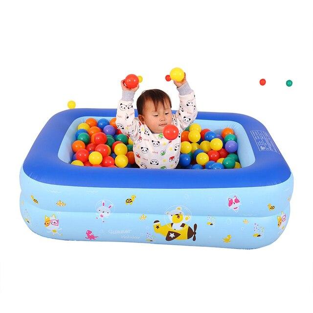 Piscina inflable bebé Piscina portátil al aire libre recipiente para niños bañera niños Piscina bebé Piscina cuadrada Shpe 3