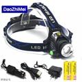 5000 lumens led headlamp cree xml t6 xm-l2 Headlights Lantern 4 mode waterproof torch head 18650 Rechargeable Battery Newest