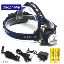 5000 lumens led headlamp cree xml t6 xm-l2 Headlights Lantern 4 mode waterproof torch head 18650 Rechargeable Battery Newest