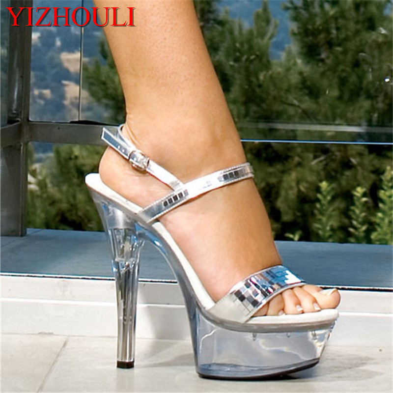 цена на 15cm pole dancing thin heels 6 inch high-heeled Dance Shoes star shoes sexy clubbing women's shoes