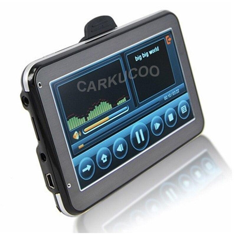 New 5 Inch HD Car GPS Navigation 800MHZ FM 4GB DDR3 Free Maps For Russia Belarus
