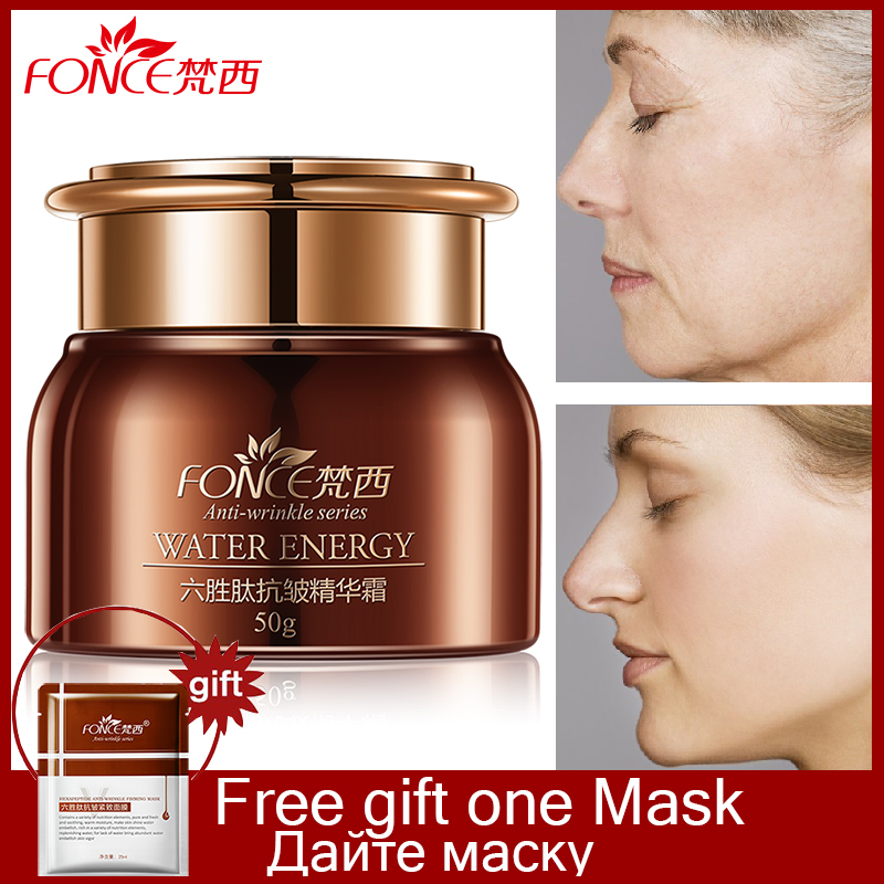 Fonce Anti Wrinkle Face Cream Day and night Moisturizer Six Peptide Serum anti Aging rugas Hydrating Lifting Facial Firming 50g