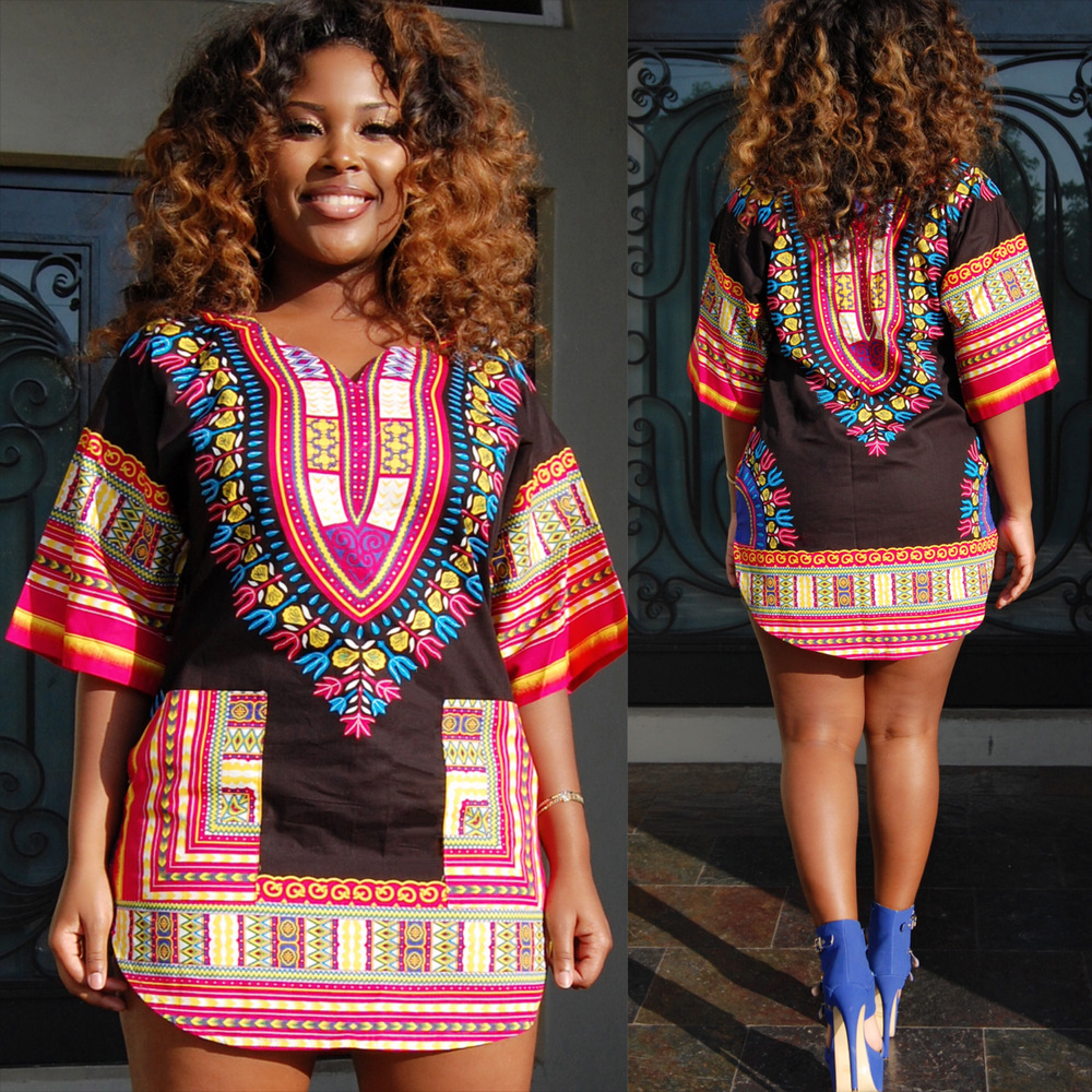 African Women Fashion: African Clothing Robe Africaine Dresses 2018 Bazin Riche