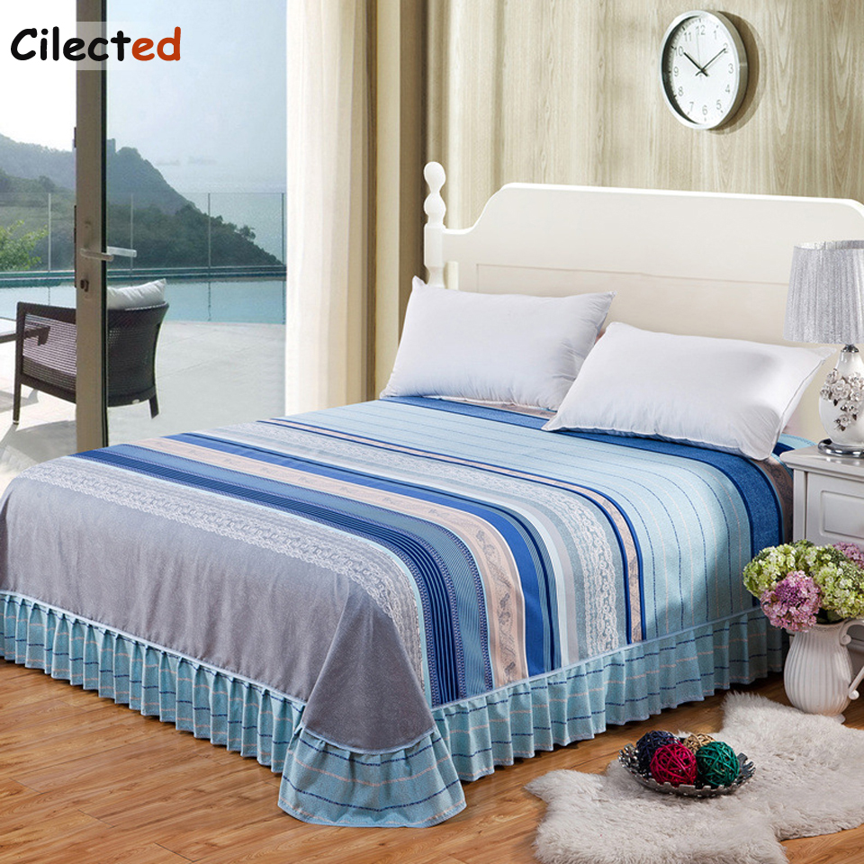 Cilected New Antiskid Bed Skirt Single Item Lace Bed Cover Children Adult Bed Cover Student Dormitory Refreshing Bedspread