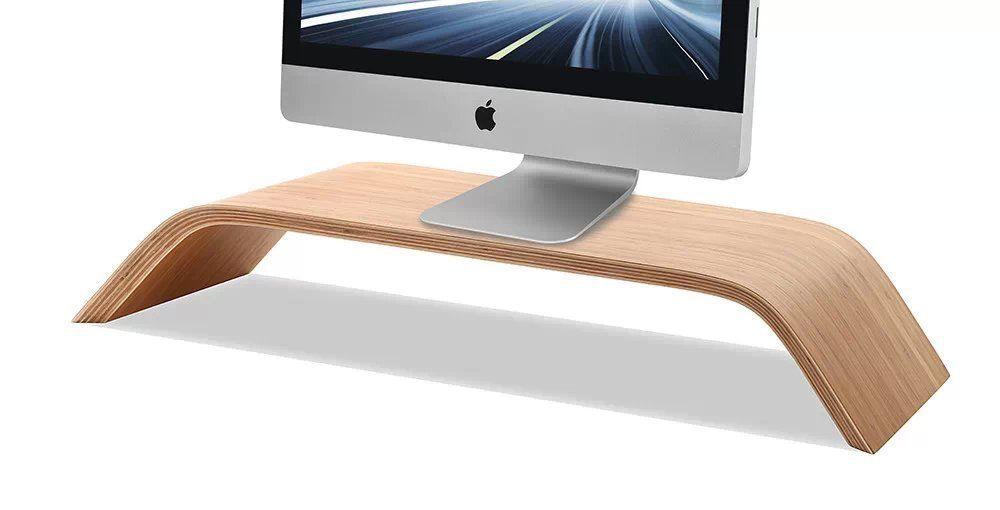 ФОТО Original Samdi Real Bamboo Desktop PC Display Stand Monitor Screen Platform Shelf Riser Holder for Apple iMac Macbook