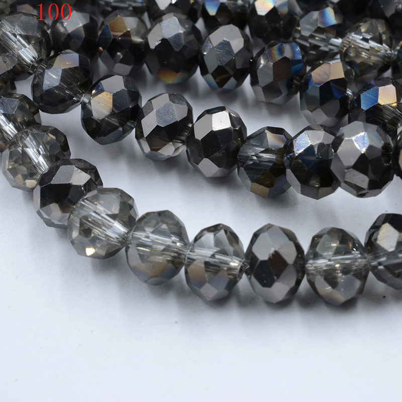 Czech Crystal Glass Faceted Round Beads 6mm Dark Green 70 Pcs AB DIY Jewellery
