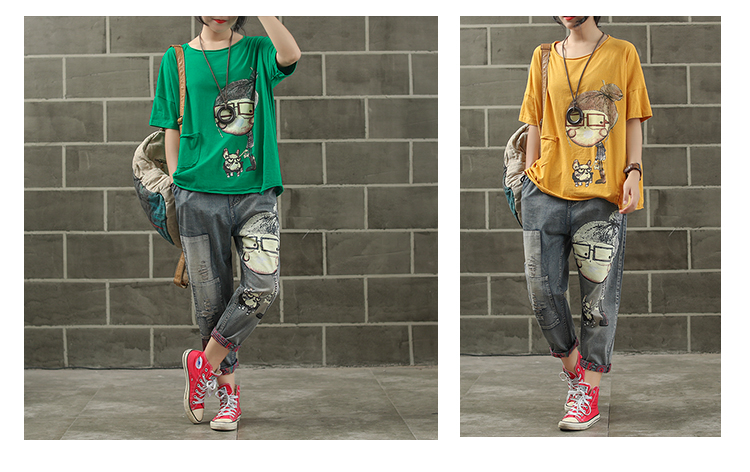 Женская модная брендовая летняя винтажная Лоскутная футболка с принтом собачки из мультфильма для маленькой девочки, Милая Короткая Женская Повседневная футболка