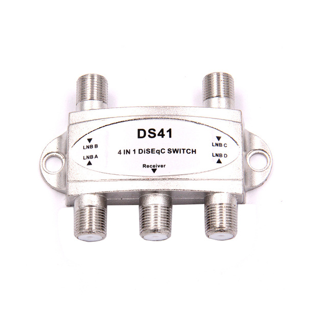 Free TV DiSEqC Switch 4x1 DiSEqC Switch satellite antenna flat LNB Switch for TV Receiver