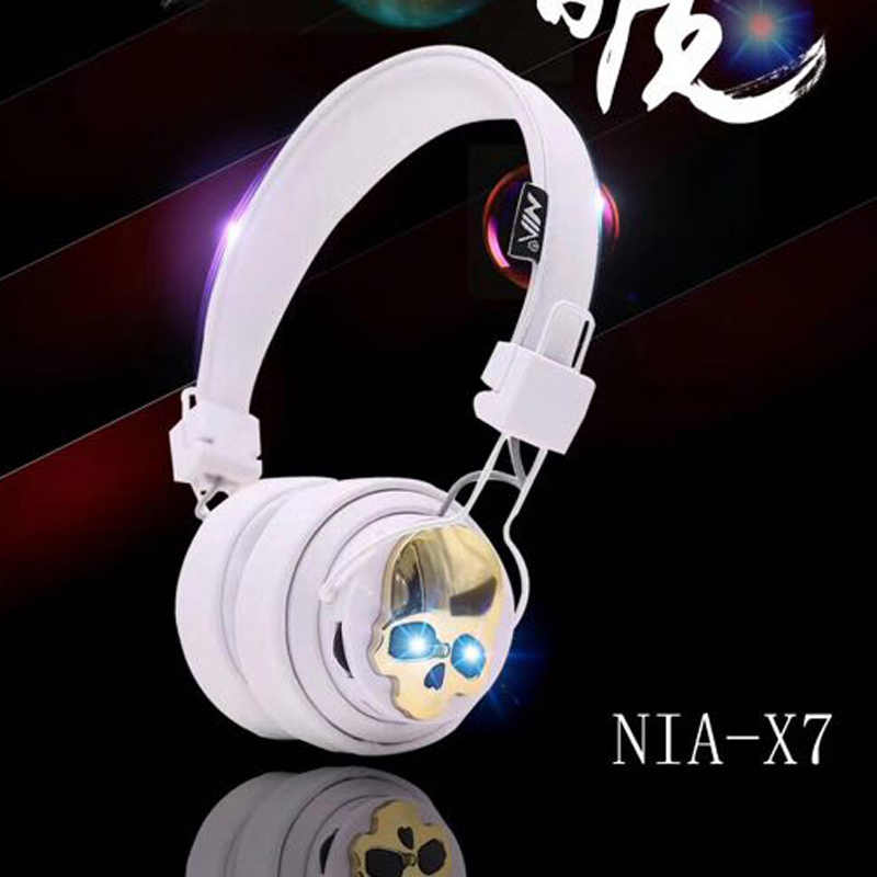 Top Quality Headset Nia Bluetooth Headphones X7 Wireless Stereo Head Mounted Gaming Mic Support For Pc Phone Tablet Aliexpress