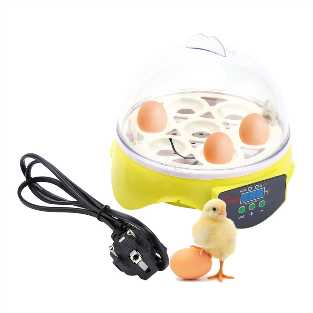 7 Eggs Incubator Automatic Poultry Chicken Hatcher Machine Brooder Digital Temperature Control For Duck Bird Pigeon Egg