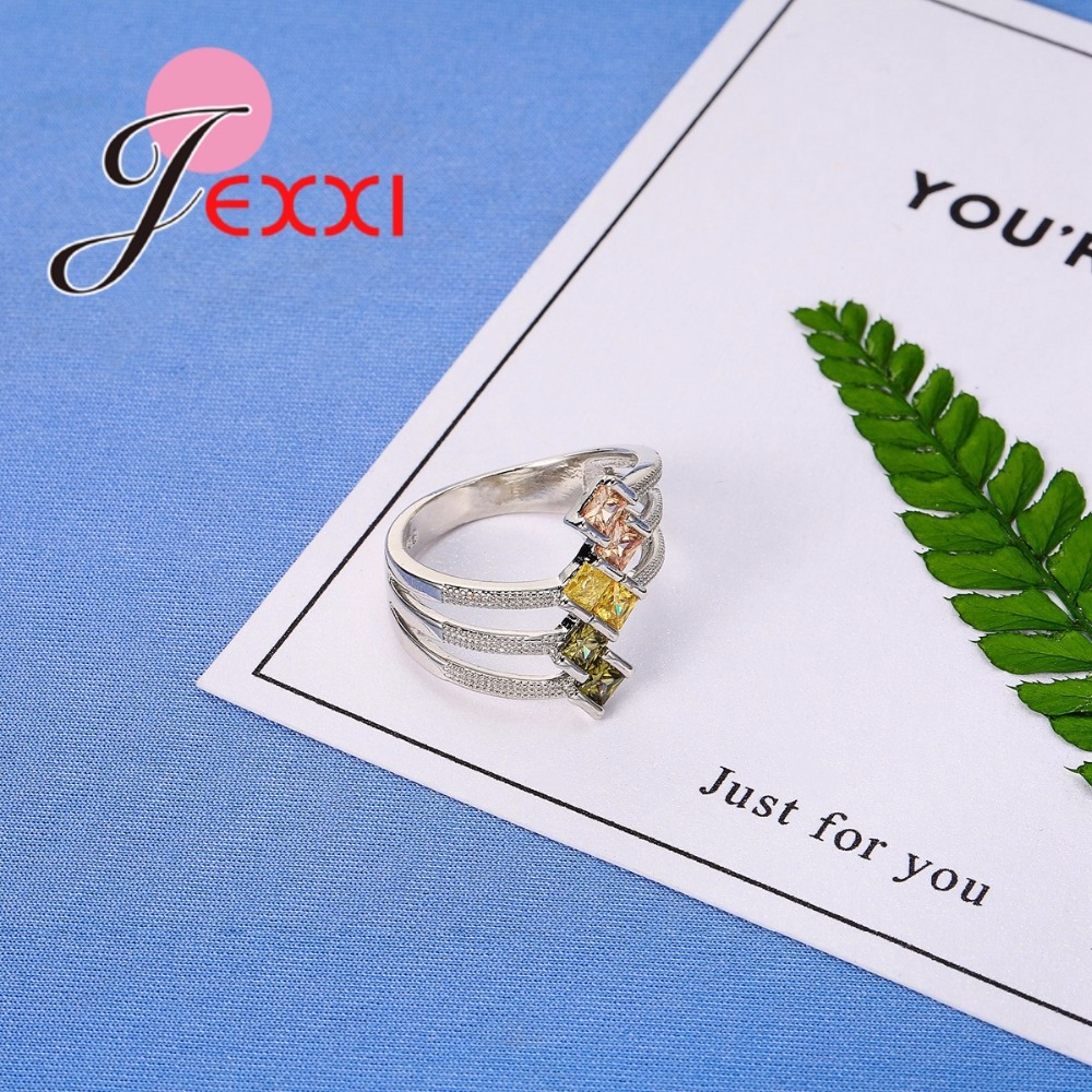 JEXXI Big Size 925 Sterling Silver Ring Paved AAA Clear Cubic - Märkessmycken - Foto 4