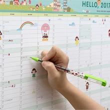 Привет 2017 Календари Усилий План книга Милый Мультфильм бумаги подарки План книга каваи Стол студент офисная техника