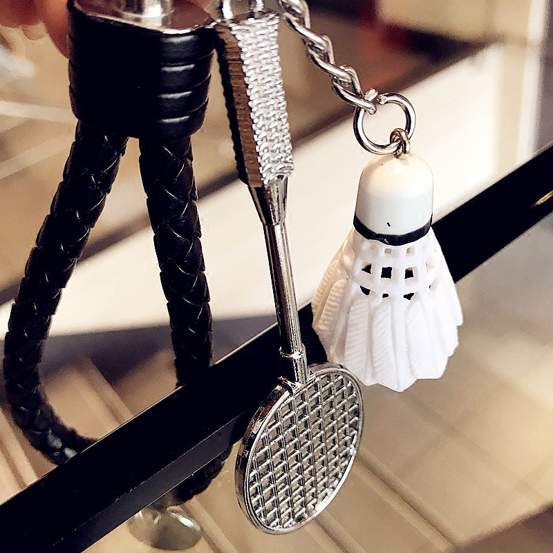 Badminton Phone Rope Car Keychain Pendant Keychain Mini Racquet Lanyard For Keys For Sam ...