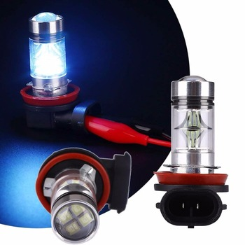 2x 100W H11 H8 9005 9006 H7 H9 H10 H1 LED Fog Driving Light Bulb White 6000K /4300k Yellow/ 10000K Ice Blue w/ Top Projector DRL image