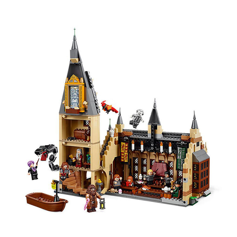 Harri Movie Potter Compatible Legoings 75954 Hogwarts Great Wall Set Building Blocks House Model Kids Toys great wall style building home with jim spear