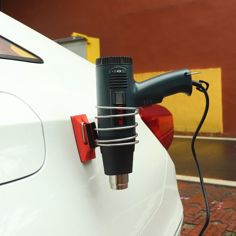 FOSHIO Support magnétique Support pour pistolet à Air chaud vinyle habillage de voiture colle autocollants pistolet à chaleur aimant fer anneau Support voiture accessoires|  -