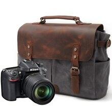 Батик холст ретро камера Водонепроницаемые повседневные дорожные сумки на плечо винтажный портфель чехол для мессенджера мужские и женские для Canon Nikon sony