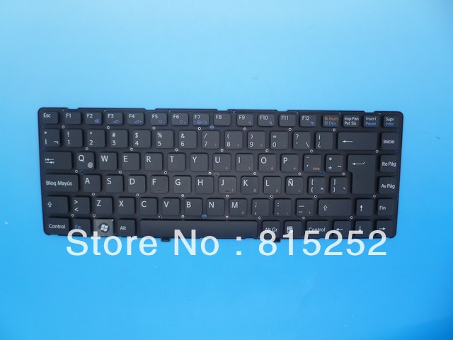 Laptop Keyboard For SONY Vpc-Ea Black(Without Frame) Latin La V081678D 148792351 laptop keyboard for sony svf13n black without frame sk slovakian 9z nabbq 209