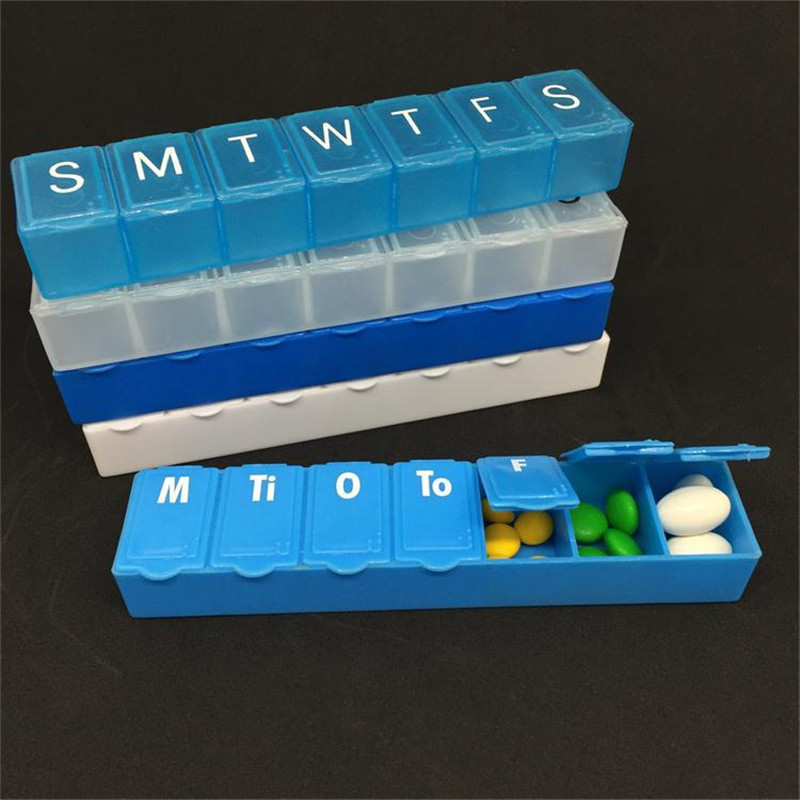 5pcs/Bags Letter Mark Long Health Care kit 7 Days a Week kit Can do Decorative Box Travel Easy to Carry Plastic Box ...