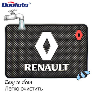 Image 4 - Doofoto alfombrilla antideslizante para salpicadero de coche, accesorio Universal, para Renault Megane 2 3 Duster Logan Clio Laguna 2, Captur