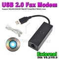 Portable Dial Up VoiceExternal USB 2.0 56kbs USB Fax Modem with Telephone RJ11 Cablefor Windows XP/ Win 7/8/Linux