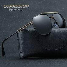 2017 Marca de Diseño de Moda steampunk gafas de sol Hombres Polarizados UV400 Gafas de sol Protegen Los Ojos gafas polarizantes conductor gafas de sol hombre