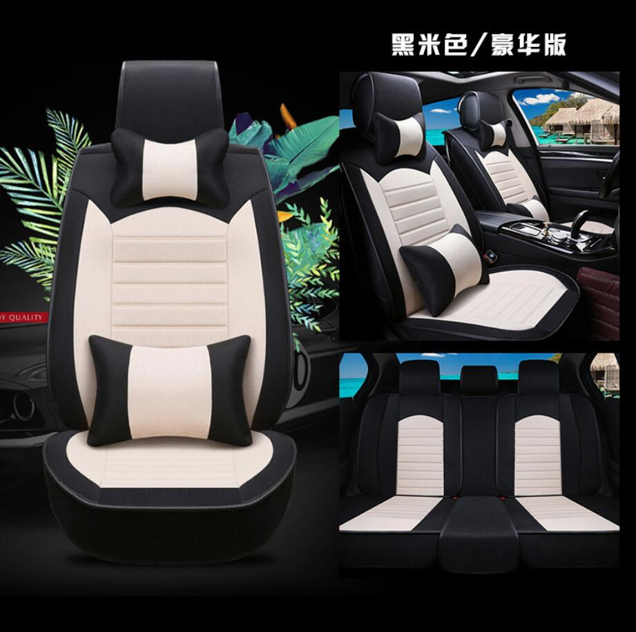 Car Travel Leather universal car <font><b>seat</b></font> <font><b>cover</b></font> for <font><b>Honda</b></font> accord 7 8 9 <font><b>civic</b></font> CR-V <font><b>2017</b></font> 2016 2015 2014 2013 Black four seasons image