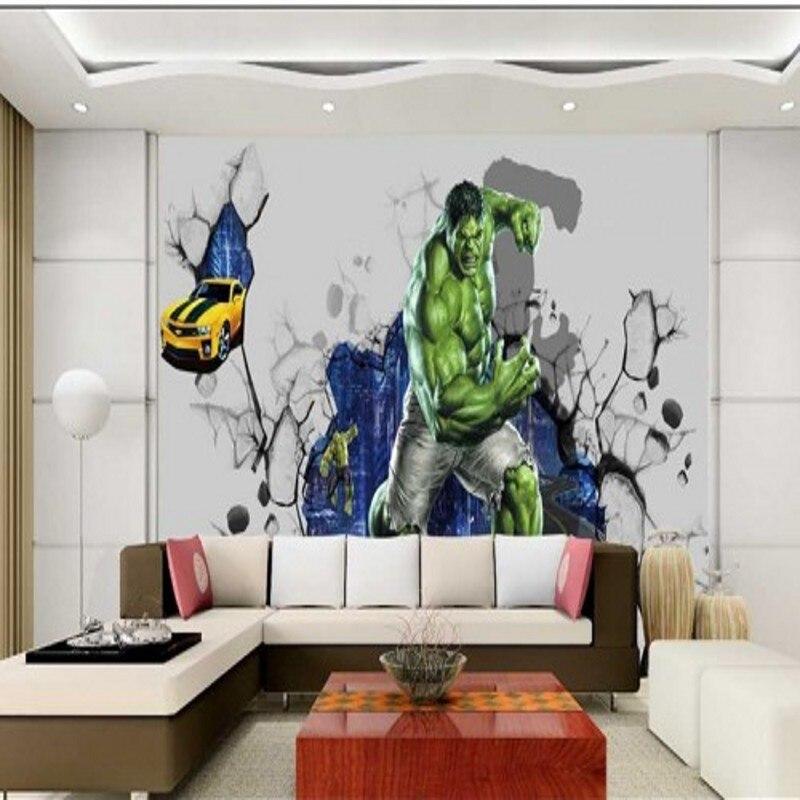 Fototapete 3D Film Serie Mural KTV Wohnzimmer Kino Hintergrund Hulk Poster Tapete WandbildChina