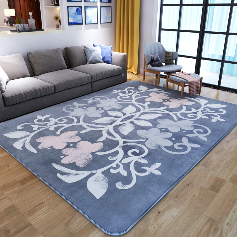 Pastoral Flannel Rugs And Carpets For Home Living Room Luxury Bedroom Floor Mat Coffee Table ...