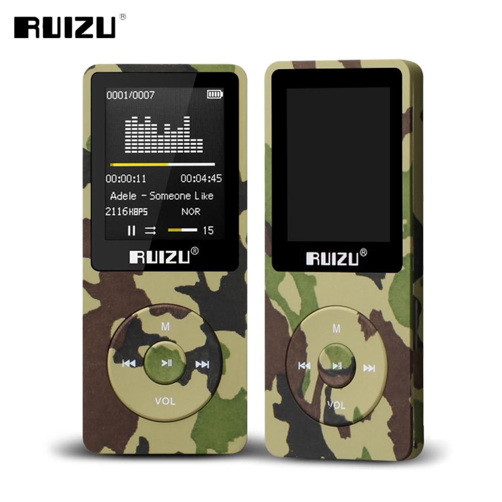 RUIZU Mp3-Player Ultrathin With 8GB-STORAGE And 80h Original X02 English-Version