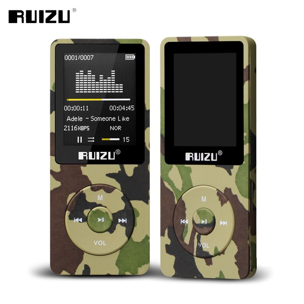 100% Original English Version Ultrathin MP3 Player With 8GB Storage And 1.8 Inch Screen Can Play 80h, Original RUIZU X02