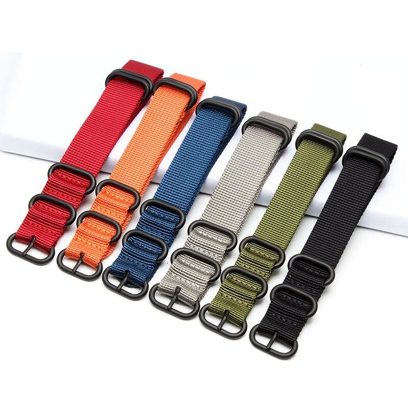 18mm 19mm 20mm 21mm22mm Noir L'otan Durable Nylon Montre-Bracelet Sangle Bande Militaire de L'armée Nylon Plongeurs Inoxydable acier Boucle Fermoir