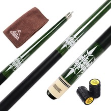 купить Cuesoul CSPC035 58 inch Canadian Maple Wood 1/2 Jointed Pool Cue Stick Billiard Cue Cue With Quick Release Joint, 13mm Cue Tips дешево