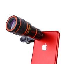 Клип-на 12x оптический зум Мобильный телефон Телескоп объектив HD телескоп телефон камера объектив для универсального мобильного телефона высокое качество