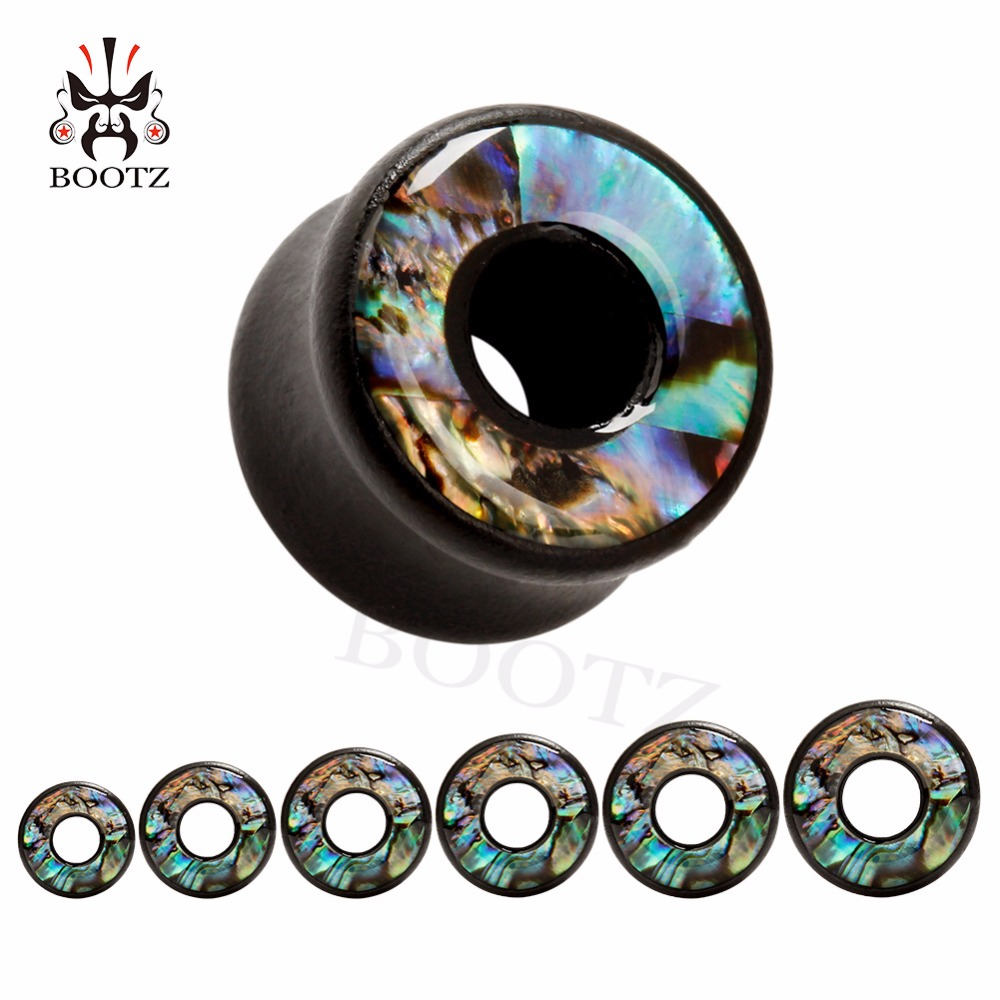 free shipping shell logo wood ear gauges plugs piercing tunnel body jewelry wholesale lift tree design