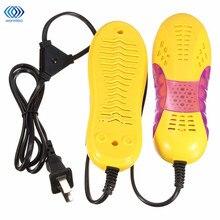 Новые 220 В 10 Вт ЕС Plug Гоночный Автомобиль Форма Voilet Свет Ботинок Ноги Защитника Загрузки Запах Дезодорант Устройство Обувь Осушитель нагреватель