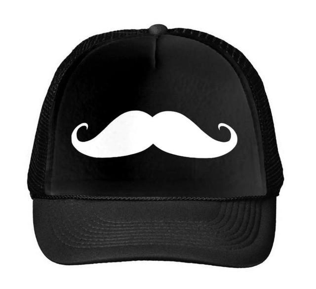 Bigode Impressão Boné de beisebol Chapéu Para As Mulheres Homens Unisex  Malha Ajustável Tamanho do Navio 64fc0620e4f