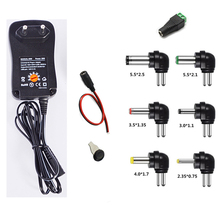 110-240V TO 3V,4.5V,5V,6V,7.5V,9V,12V 30W Universal Adjustable AC/DC Charger Adapter+5V USB Port 2PCS/lot
