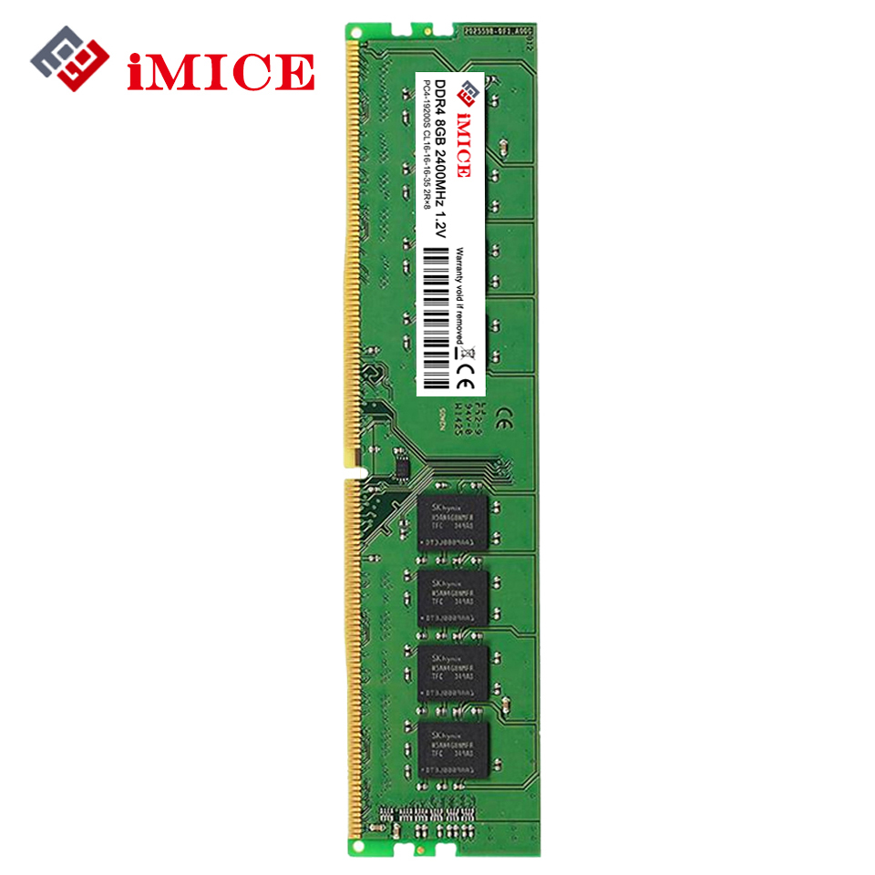 iMICE DDR4 4GB Desktop PC RAMs 2133MHz PC4-17000S 1.2V DIMM 8GB 2400MHz PC4-19200S CL16 RAM Compatible For Intel Memory Warranty new memory 803028 b21 8gb 1x8gb single rank x4 pc4 17000 ddr4 2133 ecc registered cas 15 one year warranty
