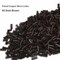 1000 stuks 3.1*2.7*4.0mm flare euro lock koperen buizen micro ringen links kralen voor stick ik tip hair extensions