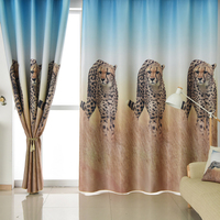 Single Panels Blackout Curtains for Bedroom Modern Living Room Decoration Polyester Animal Curtains Drapes