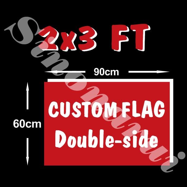 Custom flag 60*90 cm Double Side Polyester Flag all logo all color royal flag With White Sleeve Metal Gromets