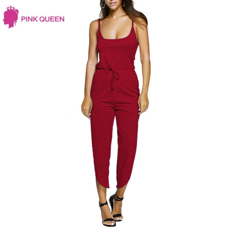 Pink Queen Kombinezony for Women Macacao Feminino Body Women Plus Size Jumpsuits Jomen Overalls Halter Sleeveless Woman Jumpsuit