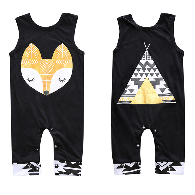 Rompers Baby Boy Clothes Summer Baby Girl Clothing Fashiopn Newborn Clothes Fox Roupas Bebe Infant Baby Jumpsuits Kids Costume