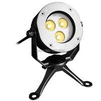 Высокое качество 100% IP68 316 нержавеющая сталь 9 Вт Цвет изменить подводный светодиодный прожектор пруд, фонтан света RGB