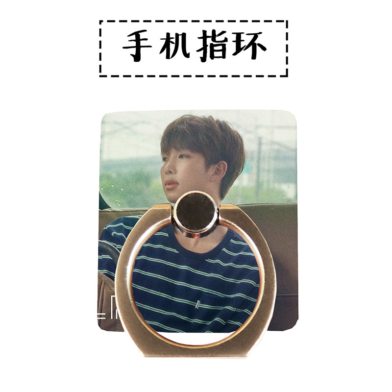 MYKPOP]BTS RM 360 Degree rotate Phone Desk Holder Finger Ring Stand Holder for all Smart Phones Fans Collection SA18061304