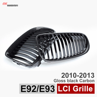 2009 2013 3 Series Black Carbon Fiber Bumper Grill Replacement For Bmw 2 Door E92 Coupe